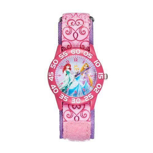 Disney Princess Ariel, Cinderella & Rapunzel Girls' Time Teacher Watch