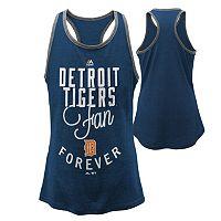 Girls 7-16 Majestic Detroit Tigers Fan Forever Racerback Tank Top