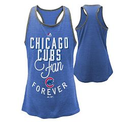 Girls 7-16 Majestic Chicago Cubs Fan Forever Racerback Tank Top