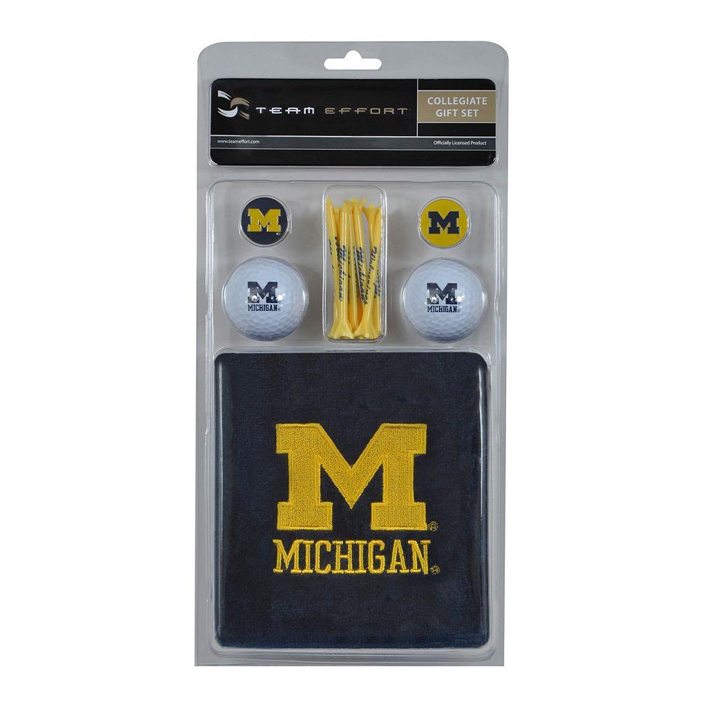 Team Effort Michigan Wolverines Golf Gift Set