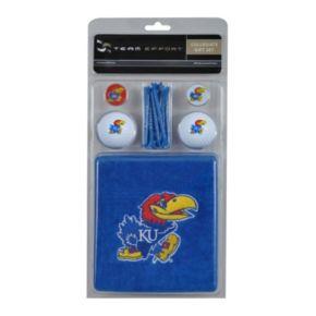 Team Effort Kansas Jayhawks Golf Gift Set