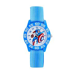 Marvel The Avengers Assemble Captain America Boys' Time Teacher Watch