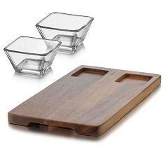 Libbey 3-pc. Acacia Wood Condiment Set