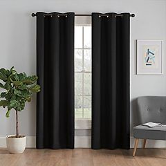 eclipse Thermaback Blackout 1-Panel Microfiber Window Curtain
