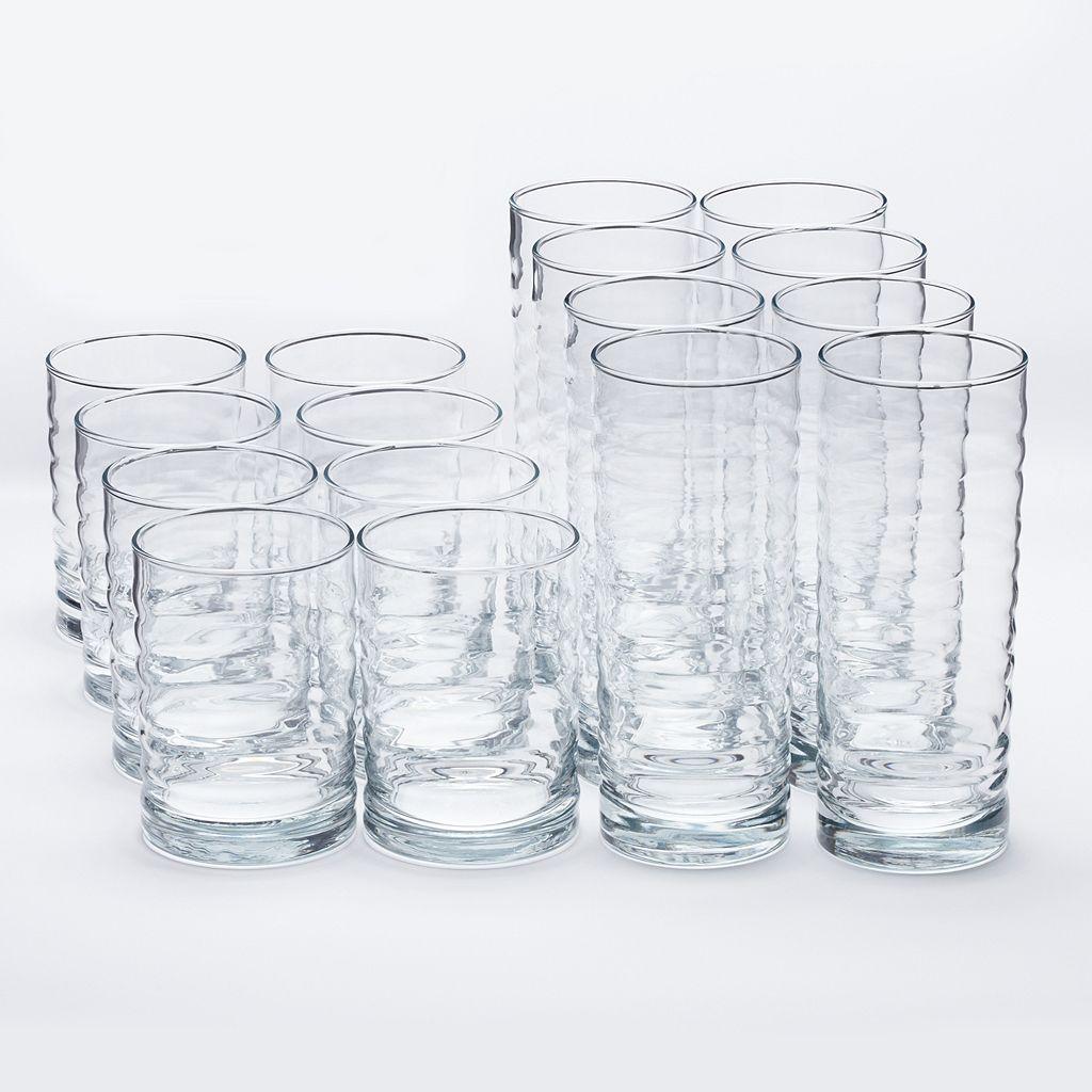 Libbey Pueblo 16-pc. Glass Set