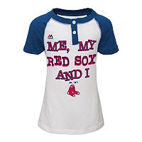 Girls 4-6x Majestic Boston Red Sox My Team & I Henley Tee