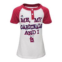 Girls 4-6x Majestic St. Louis Cardinals My Team & I Henley Tee
