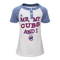 Girls 4-6x Majestic Chicago Cubs My Team & I Henley Tee