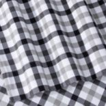 Micro Plaid Printed Flannel Sheet Set