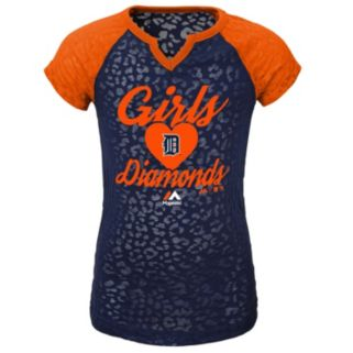 Girls 4-6x Majestic Detroit Tigers Diamonds Tee