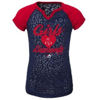 Girls 4-6x Majestic Boston Red Sox Diamonds Tee