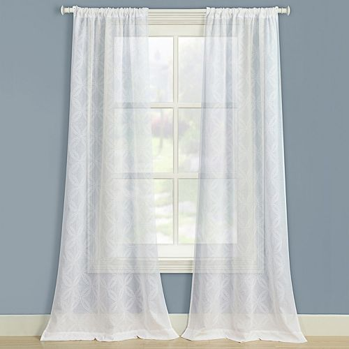 Laura Ashley Lifestyles 2-pack Chancery Window Curtains