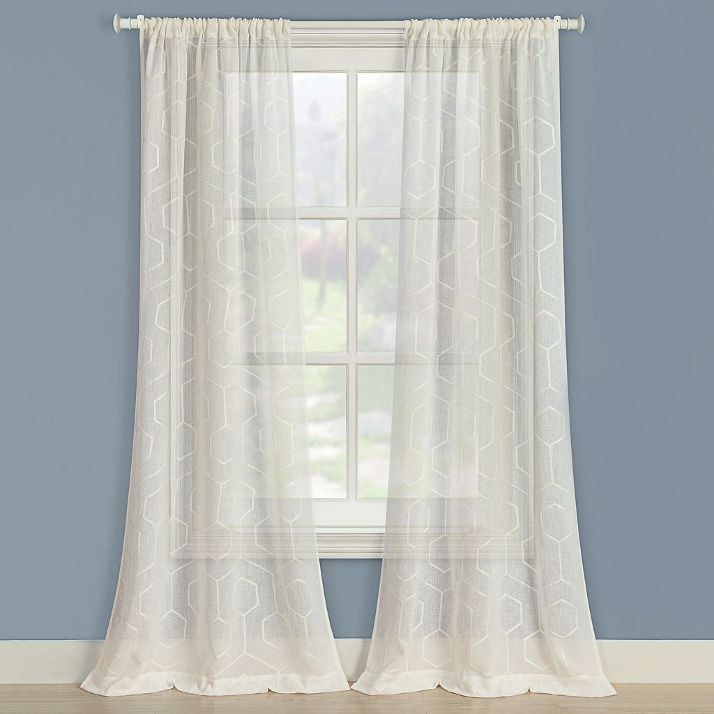 Laura Ashley 2-pack Linton Window Curtains