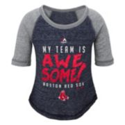 Girls 4-6x Majestic Boston Red Sox My Team Is Awesome Tee