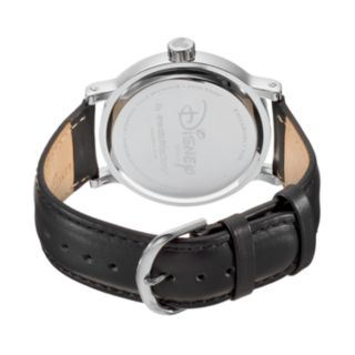 Disney's Mickey Mouse, Donald Duck & Goofy Men's Leather Watch