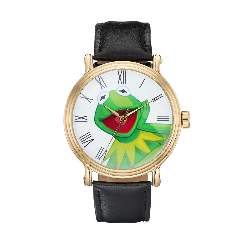 Disney's The Muppets Kermit the Frog Men's Leather Watch