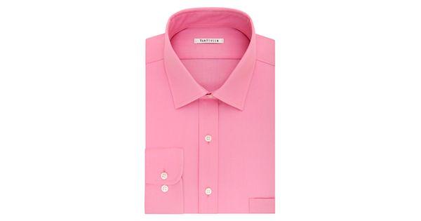 Men 39 s van heusen flex collar regular fit pincord dress shirt for Van heusen men s regular fit pincord dress shirt
