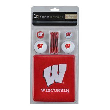 Team Effort Wisconsin Badgers Golf Gift Set