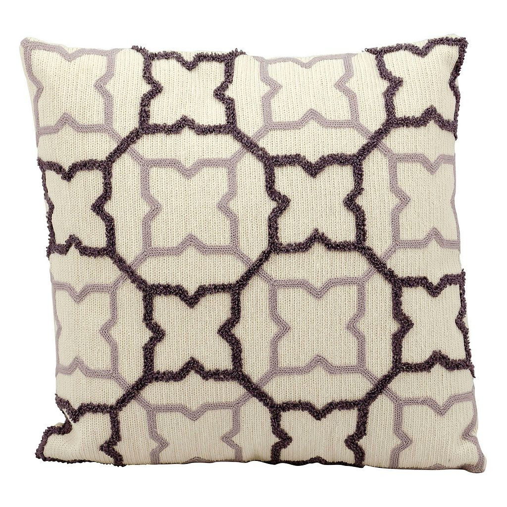 Mina Victory Star Trellis Throw Pillow
