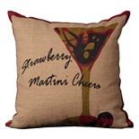 Mina Victory Lifestyles Strawberry Martini Throw Pillow