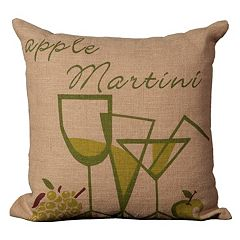 Mina Victory Lifestyles Apple Martini Throw Pillow