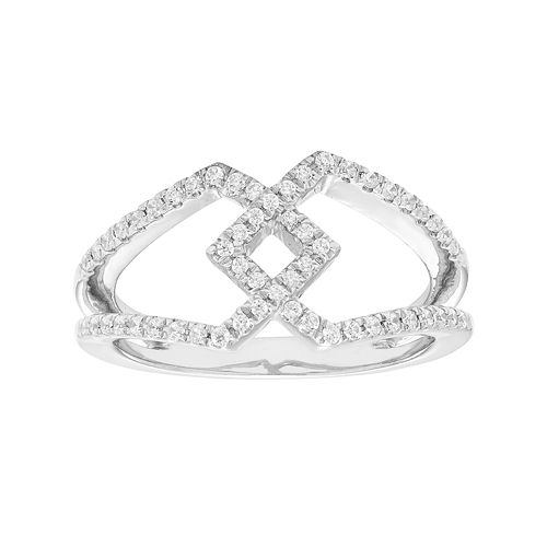 Sterling Silver 1/4 Carat T.W. Diamond Openwork Ring