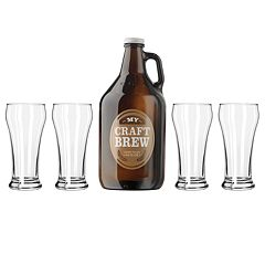 Libbey 'My Craft Brew' 5-pc. Beer Growler & Pilsner Glass Set