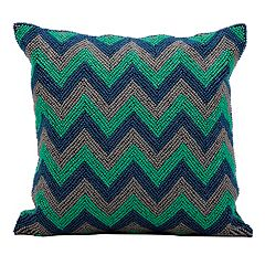 Kathy Ireland Beaded Chevron Throw Pillow