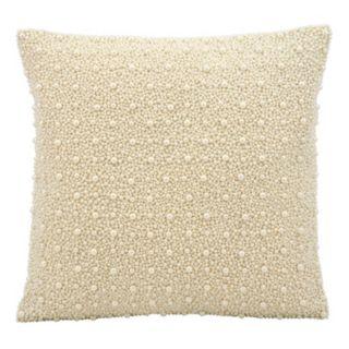 Kathy Ireland Beaded Faux Pearls Throw Pillow