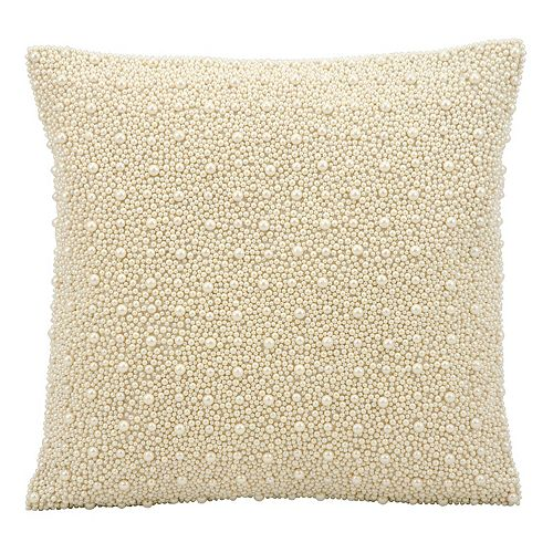 Kathy Ireland Beaded Faux Pearls Throw Pillow