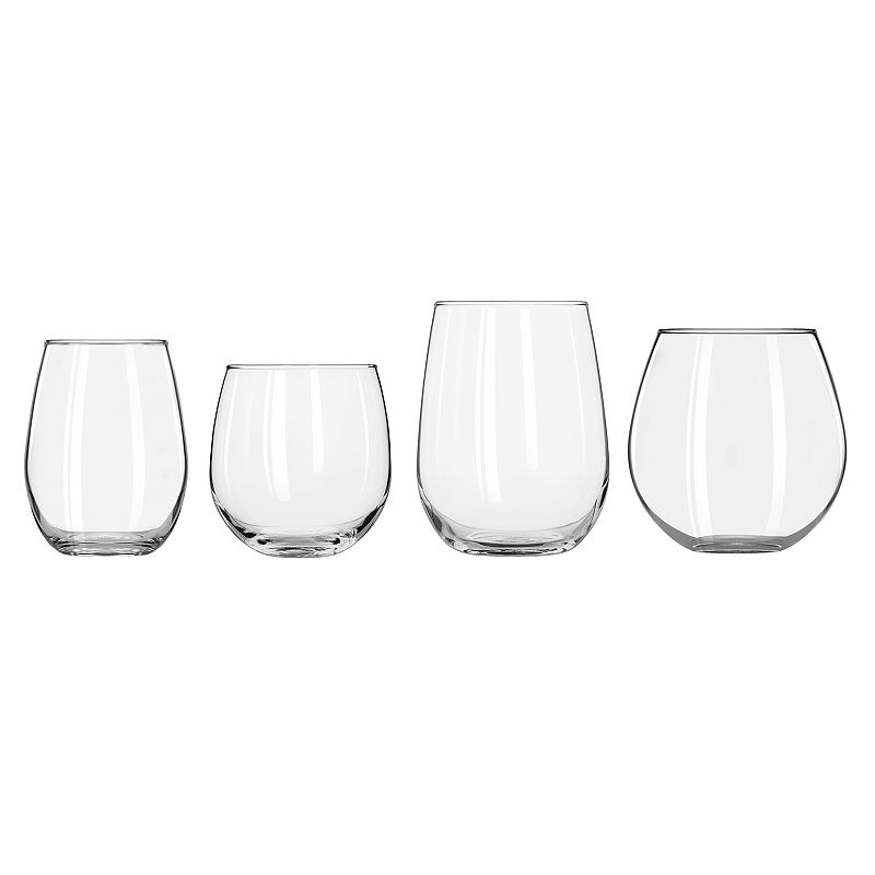 Libbey 8-pc. Stemless Wine Glass Set, Multicolor