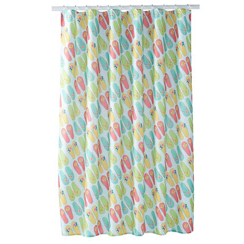 Celebrate Summer Together Flip Flop Shower Curtain