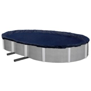 Blue Wave Bronze-Grade Oval Above-Ground Winter Pool Cover for 12-ft. x 20-ft. Pool