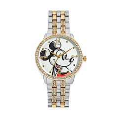 Disney's Mickey Mouse Men's Crystal Two Tone Watch