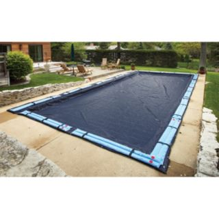 Blue Wave Bronze-Grade Rectangular In-Ground Winter Pool Cover for 12-ft. x 20-ft. Pool
