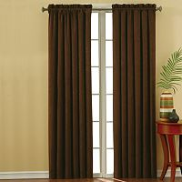 eclipse Faux Suede Thermaback Blackout Curtain