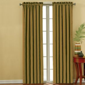 eclipse Faux Suede Thermaback Blackout Window Curtain