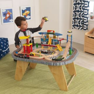 KidKraft Transportation Station Train Set & Table