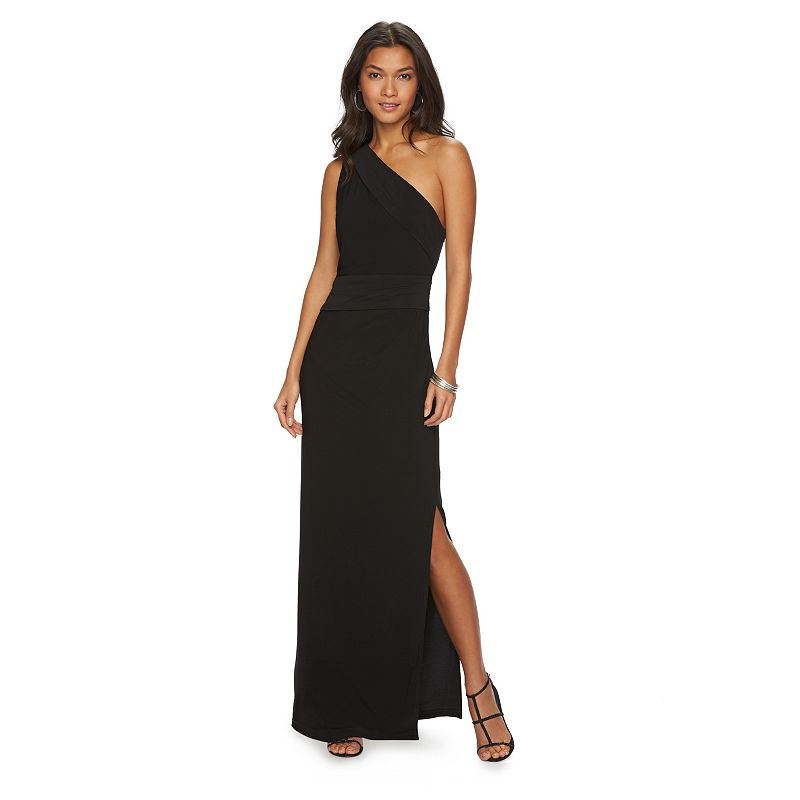 Women's Chaps Pleated Asymmetrical Evening Gown