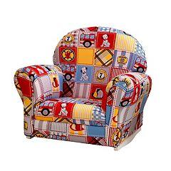 KidKraft Upholstered Firefighter Rocker & Slipcover by