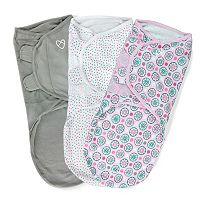 Baby Girl SwaddleMe 3-pk. Adjustable Infant Swaddles