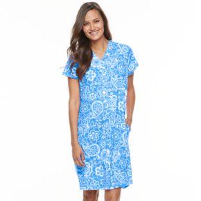 Women's Miss Elaine Essentials Interlock Knit Short Robe