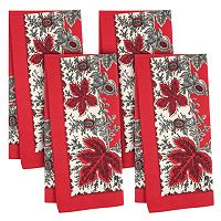 KAF HOME Botanique Holiday 4 pc Napkin Set