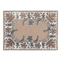 KAF HOME Botanique Holiday Quilted 4 pc Placemat Set