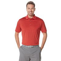 Big & Tall Grand Slam Classic-Fit Heathered Performance Golf Polo
