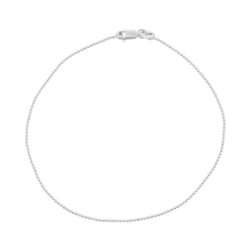 Sterling Silver Ball Chain Anklet