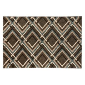 Mohawk Home Augusta Browning Avenue Geometric Shag Rug