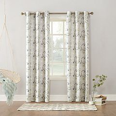 Sun Zero 1-Panel Soloman Thermal Lined Window Curtain