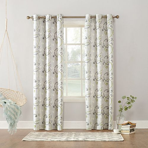 Sun Zero Soloman Thermal Lined Window Curtain