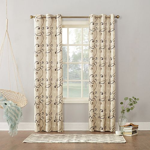 Sun Zero 1 Panel Soloman Thermal Lined Window Curtain